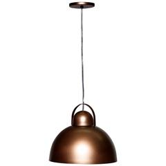 Pendente em Alumínio para 1 Lâmpada Luna 20x35cm Avelã E Dourado - Casanova