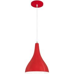 Pendente em Alumínio para 1 Lâmpada Pera Minas Gerais 21x26cm Vermelho