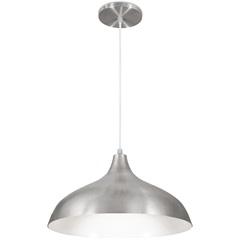 Pendente em Alumínio para 1 Lâmpada Pera Minas Gerais 33x18cm Escovado - Nacional Iluminação