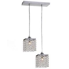 Pendente em Alumínio para 2 Lâmpadas Córdoba 88x30cm Cromado