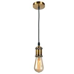 Pendente em Metal para 1 Lâmpada Decor 15w Bronze - LLUM Bronzearte