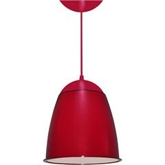 Pendente em Poliestireno para 1 Lâmpada Cor 21x19cm Vermelho - Utron