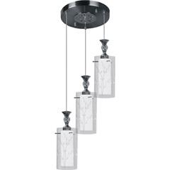 Pendente em Vidro Branco Fosco E Transparente 32,5x12cm - Taschibra