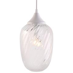 Pendente em Vidro para 1 Lâmpada Marrakesh 24cm Transparente - Taschibra