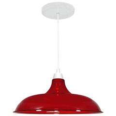 Pendente Prato em Poliestireno 16x32cm Vermelho Translúcido - Casanova