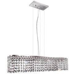 Pendente Retangular para 4 Lâmpadas Milano 12x60cm Espelhado