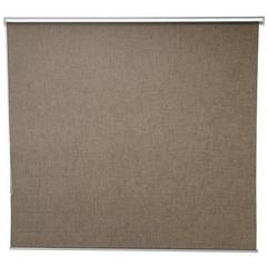 Persiana em Poliéster Linen 160x160cm Marrom - Casa Etna