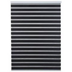 Persiana Rolo em Poliéster Zebra 160x160cm Preta - Top Rio