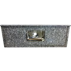 Pia de Granito Luxo com Cuba em Inox 120x55cm Cinza Corumba - Bom Jesus