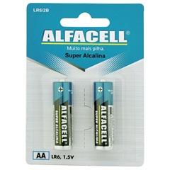 Pilha Pequena Alcalina Aa 1,5v com 2 Unidades