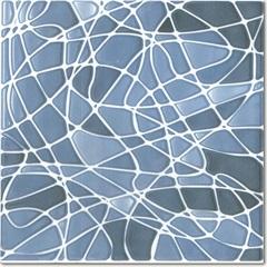 Piso Cerâmico Acetinado Borda Bold Acqua Decor Line Azul 14,5x14,5cm - Incepa