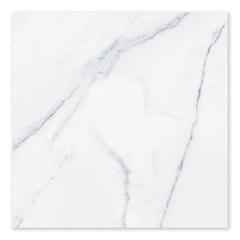 Piso Cerâmico Acetinado Borda Bold Marmo Lux Branco 60x60cm - Biancogres