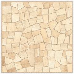 Piso Cerâmico Hd Rústico Borda Bold Mosaico Bege 53x53cm - Carmelo Fior