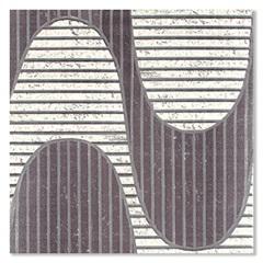 Piso Cerâmico Rústico Borda Bold Leblon Branco E Preto 45x45cm - Formigres