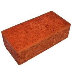 Piso Cimentício Retangular 10x20cm Vermelho - Oterprem