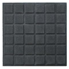 Piso Cimentício Rústico Antiderrapante Borda Reta 36 Quadros Suvial Preto 30x30cm - Cimartex