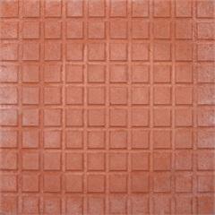 Piso Cimentício Rústico Borda Reta Status 100 Quadros Vermelho 32x32cm - Cimartex