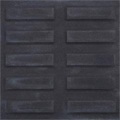 Piso Cimentício Rústico Borda Reta Suvial Rampa Filete Preto 20x20cm - Cimartex