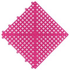 Piso Flexível Modular em Pvc Flex 30x30cm Rosa - Impallets