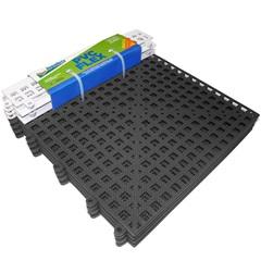 Piso Flexível Modular em Pvc Flex com Rampa 30x30cm Preto com 4 Peças - Impallets