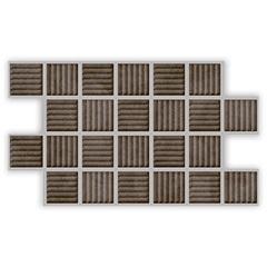 Piso Rústico Acetinado Borda Bold Linha Um Concreto 31x54cm - Savane