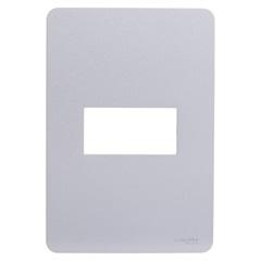 Placa 1 Posto 4x2'' Gamma Silver - Schneider