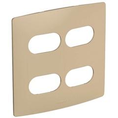 Placa 2 + 2 Postos Separados 4x4 Nereya Seda Gengibre - Pial Legrand