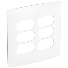 Placa 3 + 3 Postos Separados 4x4 Nereya Seda Sal - Pial Legrand