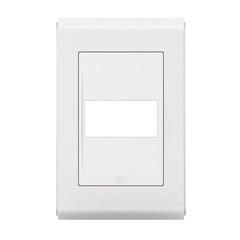 Placa 4''X2'' para 1 Módulo Refinatto Branco - WEG