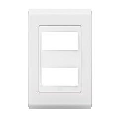 Placa 4''X2'' para 2 Módulo Refinatto Branco - WEG