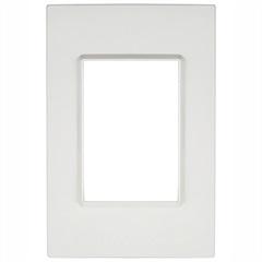 Placa 4''X2'' para 3 Módulos Delta Branca - Iriel