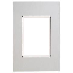 Placa 4''X2'' para 3 Módulos Delta Luxo Platinum Natur - Iriel