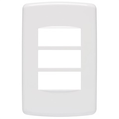 Placa 4''X2'' para 3 Módulos Duale Up Branca - Iriel