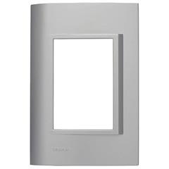 Placa 4''X2'' para 3 Módulos Vivace Alumínio - Siemens
