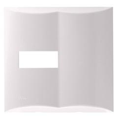 """Placa 4""""X4"""" para 1 Módulo + Pré Corte Brava Branca - Iriel"""