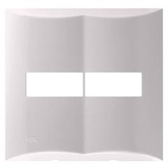 """Placa 4""""X4"""" para 2 Módulos Brava Branca - Iriel"""