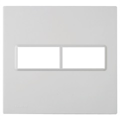 Placa 4''X4'' para 2 Módulos Delta Branca - Siemens