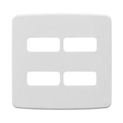 Placa 4''X4'' para 4 Módulos Compose Branca - WEG