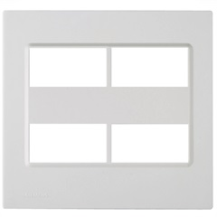 Placa 4''X4'' para 4 Módulos Delta Branca - Siemens