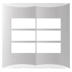 """Placa 4""""X4"""" para 6 Módulos Brava Branca - Iriel"""