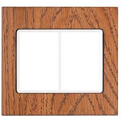 Placa 4''X4'' para 6 Postos Delta Mondo Lx Nogal Crystal - Iriel