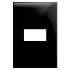 Placa 4x2 1 Posto Horizontal Simon 35 Preto - Simon