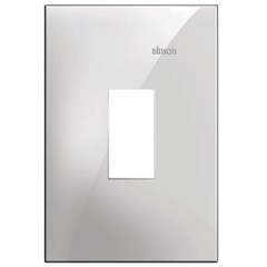 Placa 4x2 1 Posto Vertical Simon 35 Branco - Simon