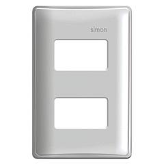 Placa 4x2 2 Postos Separados com Suporte Simon 19 Branca - Simon