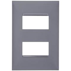 Placa 4x2 2 Postos Separados Plusmais Cinza - Pial Legrand