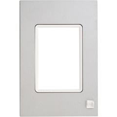 Placa 4x2 3 Postos Delta Mondo Lx Platinum Natur - Siemens