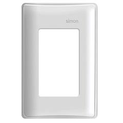 Placa 4x2 3 Postos Horizontais com Suporte Simon 19 Branca - Simon