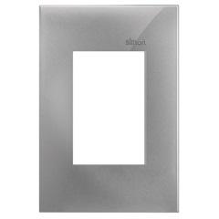 Placa 4x2 3 Postos Horizontais Simon 35 Alumínio - Simon