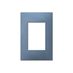 Placa  4x2 3 Postos Horizontal Azul - Simon