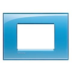 Placa 4x2 3 Postos Livinlight Deep Azzurro - BTicino
